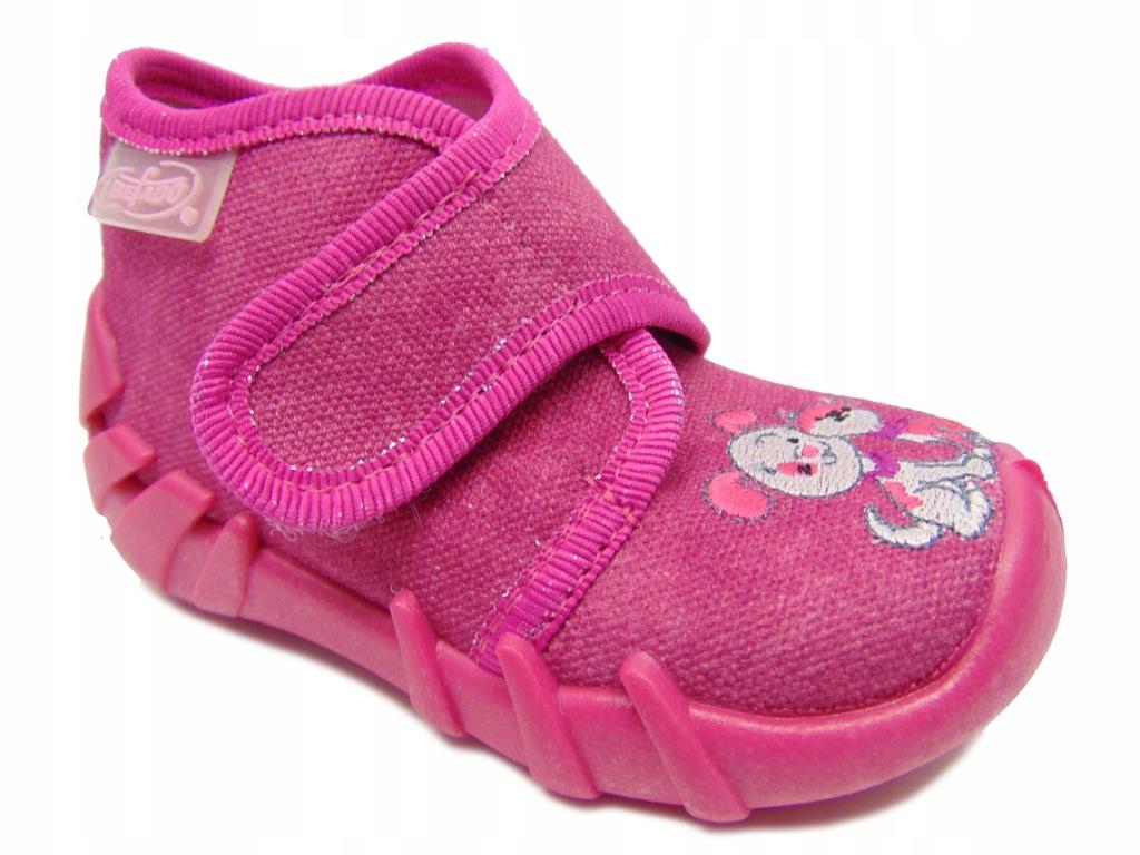 Befado 525P013 buciki dziewczęce Różowy r.22