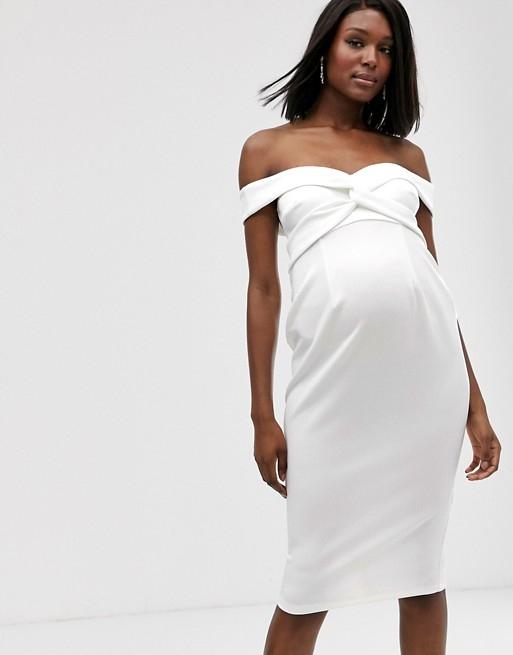 DK B862 DESIGN Sukienka odsłonięte ramiona 42 A04