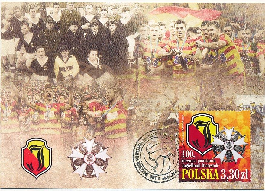 Jagiellonia Białystok 100 rocz powstania karta max