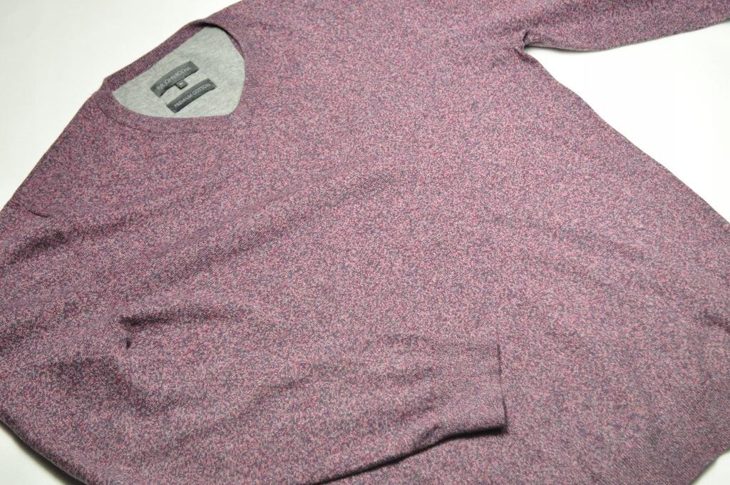 ATT męski sweter bawełniany John Rocha śliwkowy M