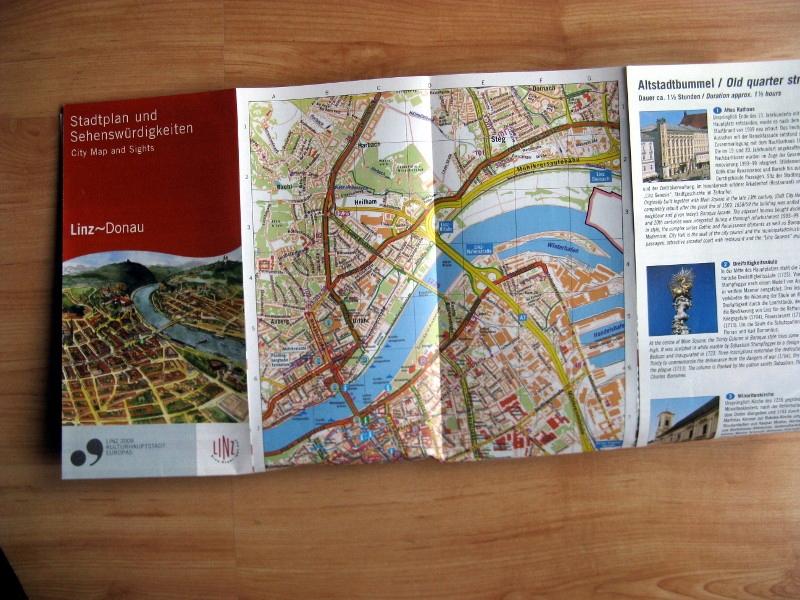 plan mapa turystyczna Austria Linz 2004