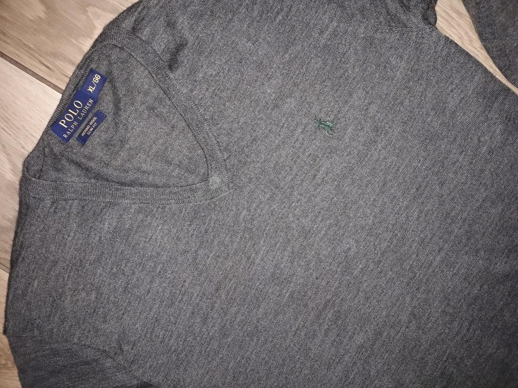 POLO RALPH LAUREN męski sweter WEŁNA XL