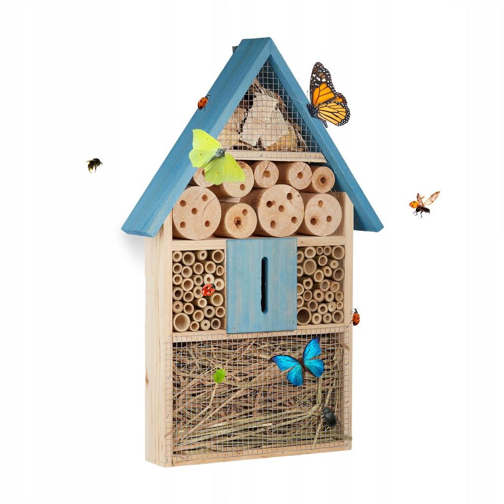 Domek budka hotel dla owadów pszczół motyli drewno