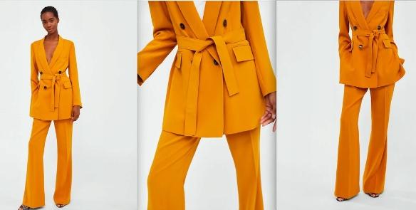 ZARA garnitur musztardowy żółty NOWY UNIKAT