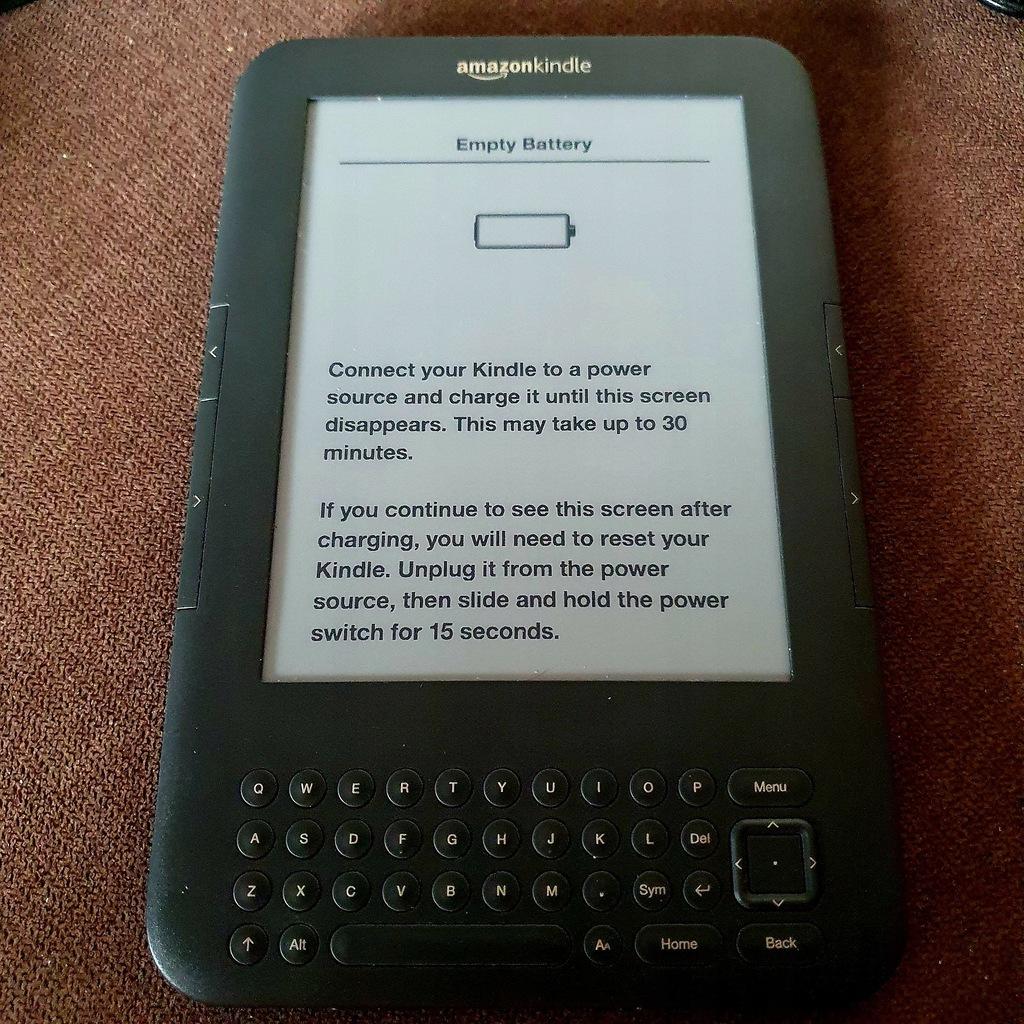 ebook - Kindle 3 keyboard