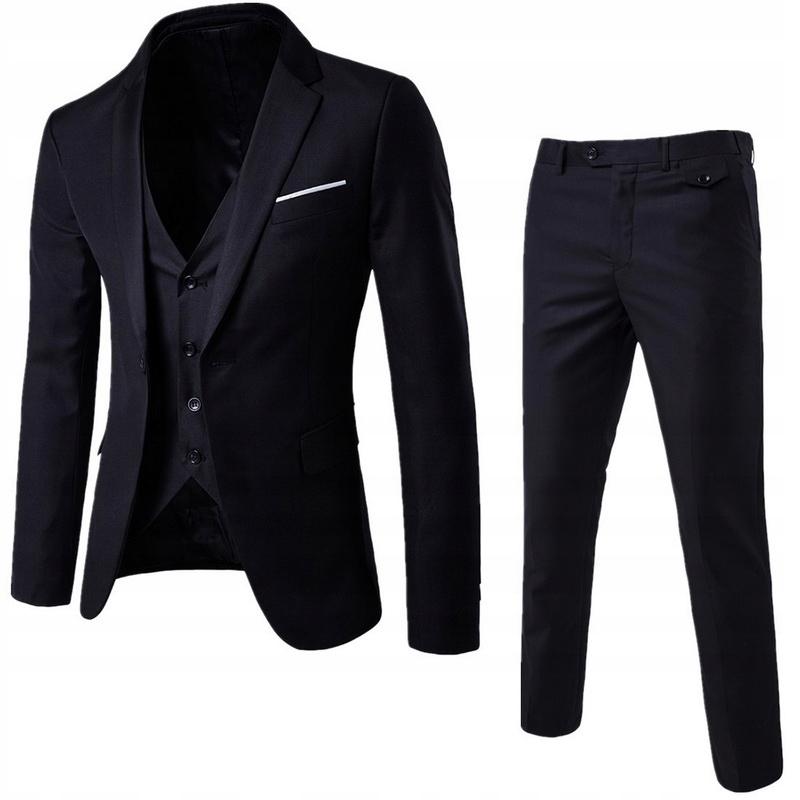 3 sztuki Business Marynarka + kamizelka + spodnie