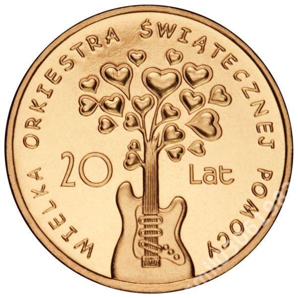 2zł 20 LAT WOŚP (2012) moneta w kapslu