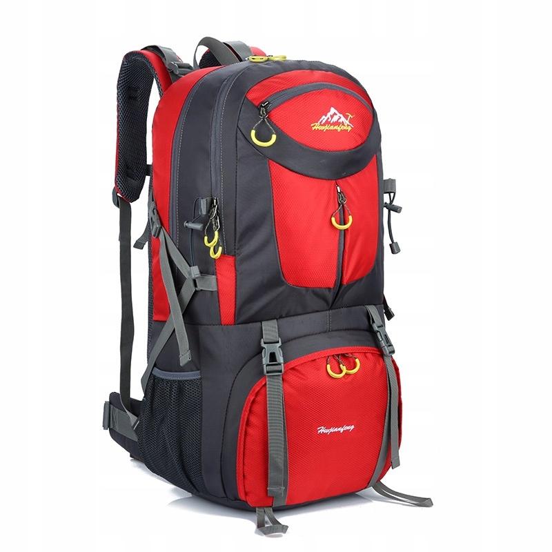 Plecak TREKKINGOWY turystyczny Alaska 50L czerwony