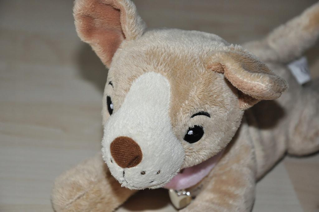 pluszak maskotka pies piesek słodziak w torebce