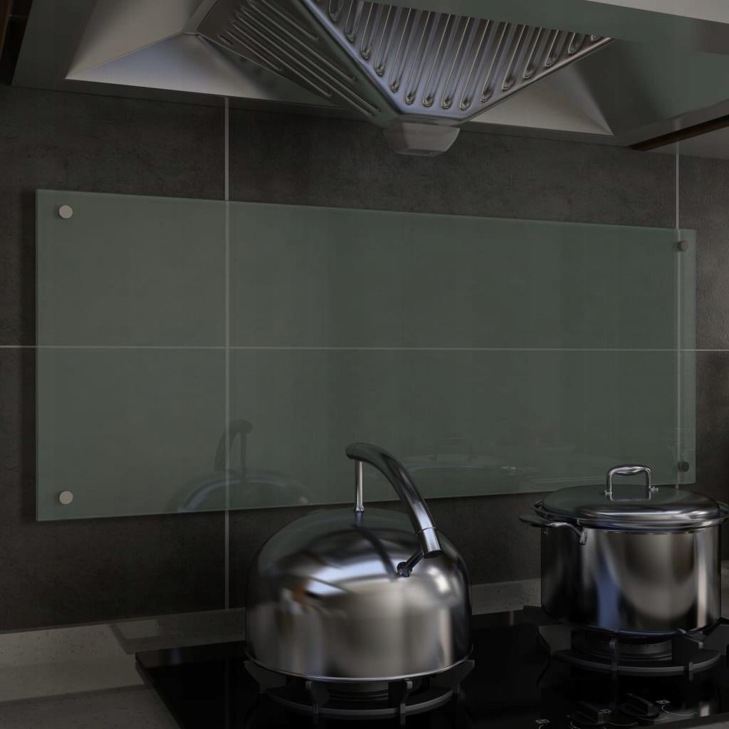 Panel ochronny do kuchni, biały, 100x40 cm, szkło