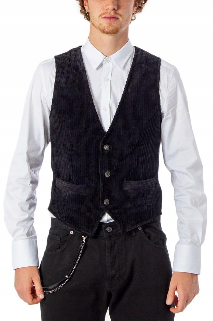 HYDRA CLOTHING MĘŻCZYZN CZARNY KAMIZELKI XL INT
