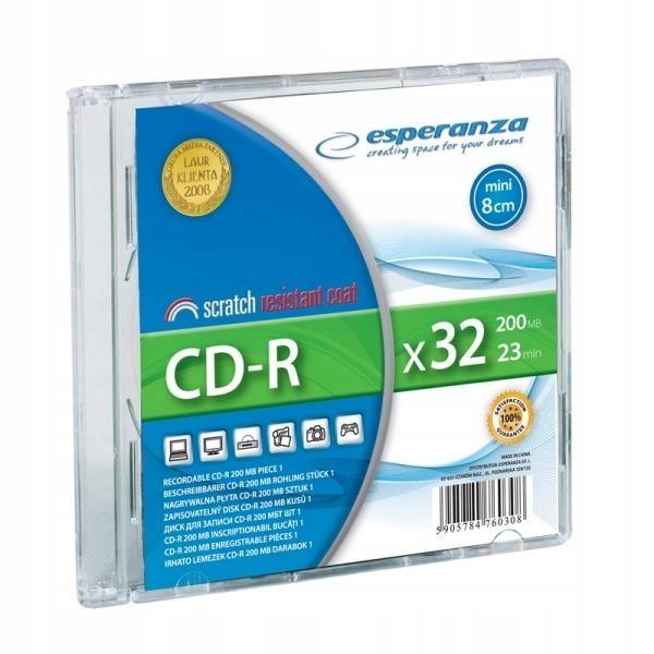 Płyta CD Esperanza 2081 (200MB; 32x; 1szt.; Slim C