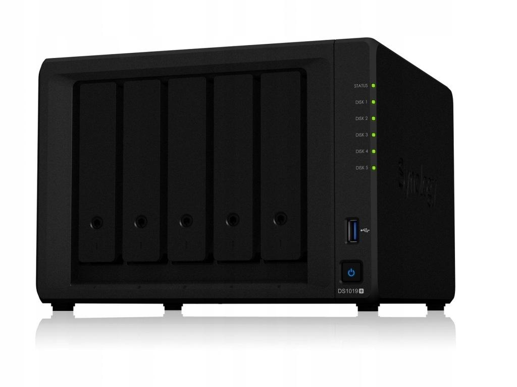 Serwer NAS DS1019+ 5x0HDD Celeron 1,5Ghz eSATA