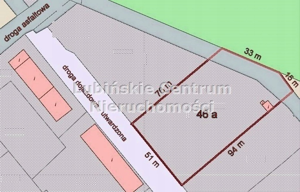Działka na sprzedaż Lubin, lubiński, 4600,00 m²