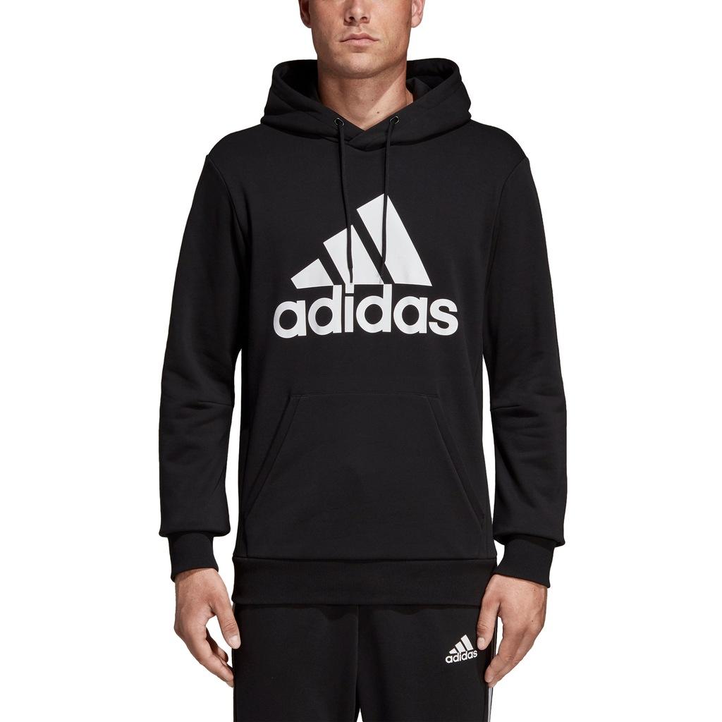 Bluza damska z kapturem Badge of Sport Long Hoodie Adidas (blackwhite)