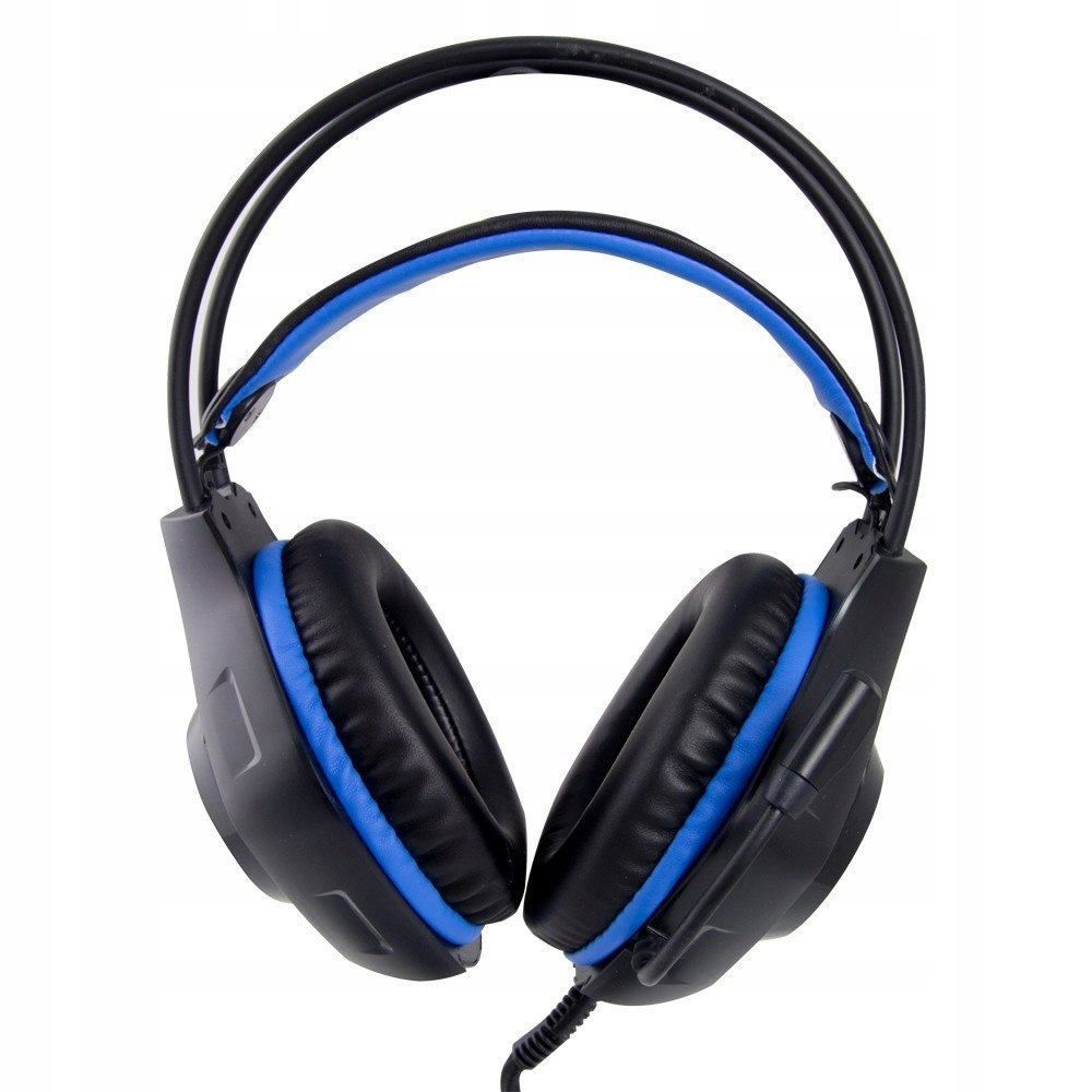 Słuchawki z mikrofonem gaming Deathstrike Niebiesk