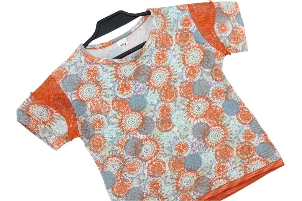 k4_Stylowa Dziewczęca Koszulka T-shirt Wzorki__104