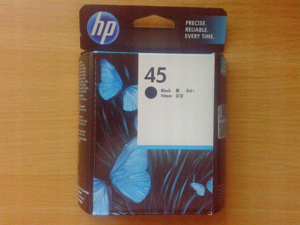Tusz HP 45 HP45 oryginal XL gratis 1