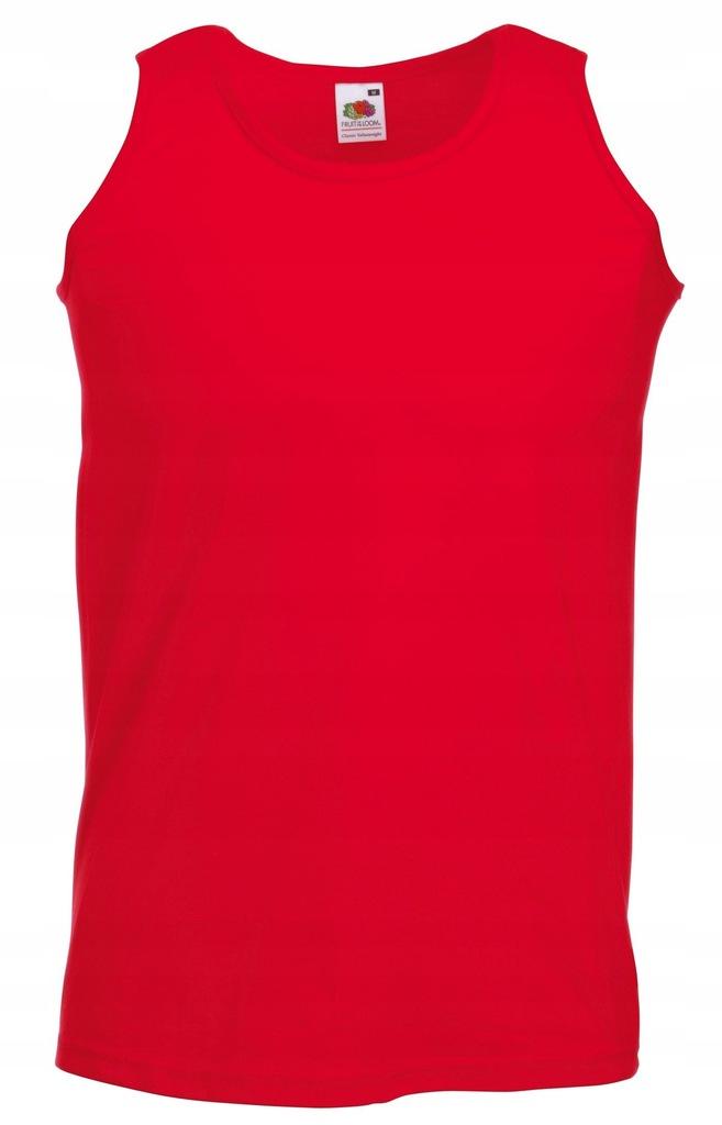 Koszulka FRUIT męski podkoszulek Red M