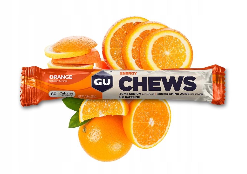 Gumy energetyczne GUM Energy Chews Pomarańcza