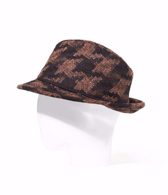 ZARA kapelusz w brązowo-czarną pepitkę L 59 cm