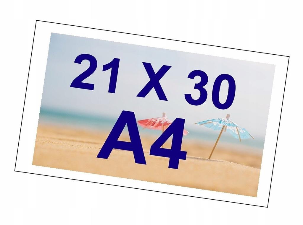 ODBITKI ZDJĘĆ OBRAZKI A4 21X30 BŁYSK 240g PREMIUM