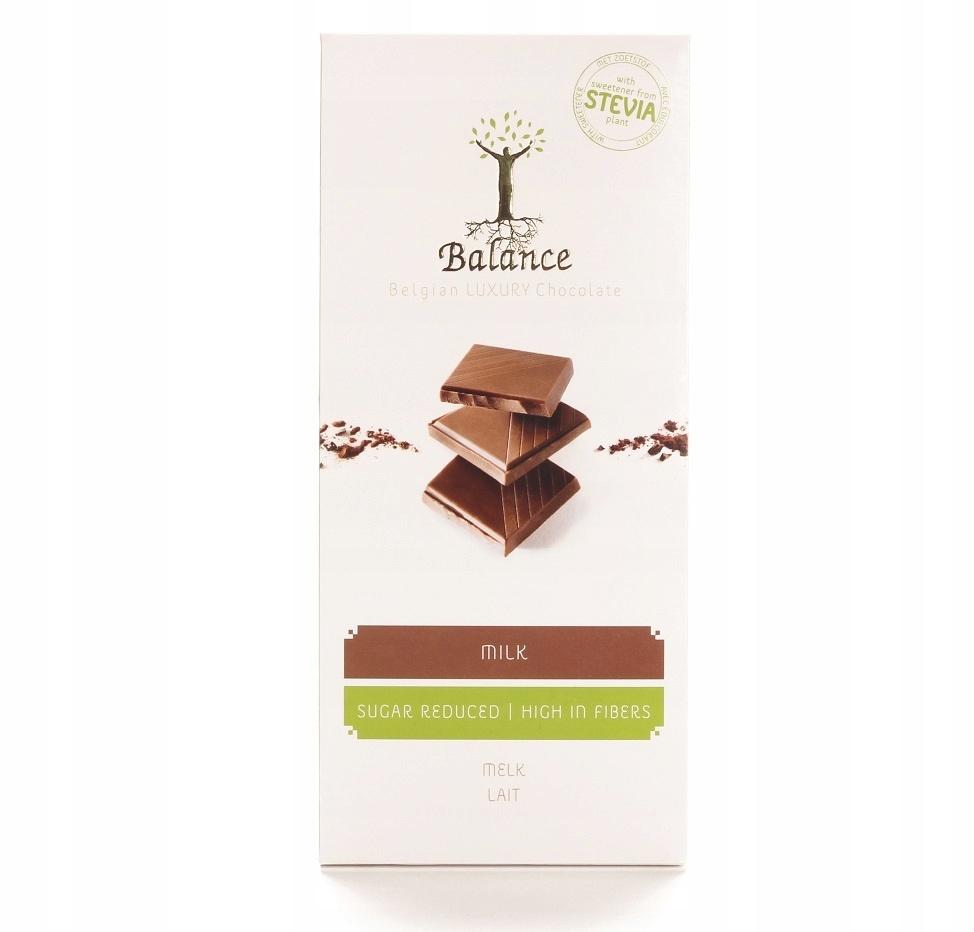 Belgijska czekolada mleczna bez cukru x 3 szt