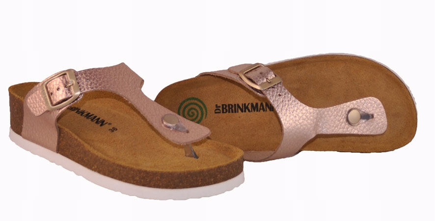 Brinkmann 701276 klapki profilowane róż nude r. 40