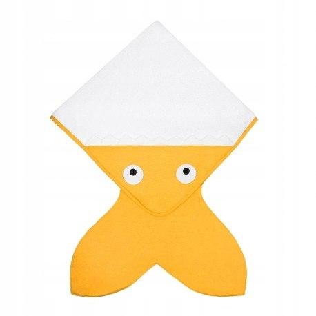 Baby bites ręcznik z kapturkiem 75 x 75 cm yellow