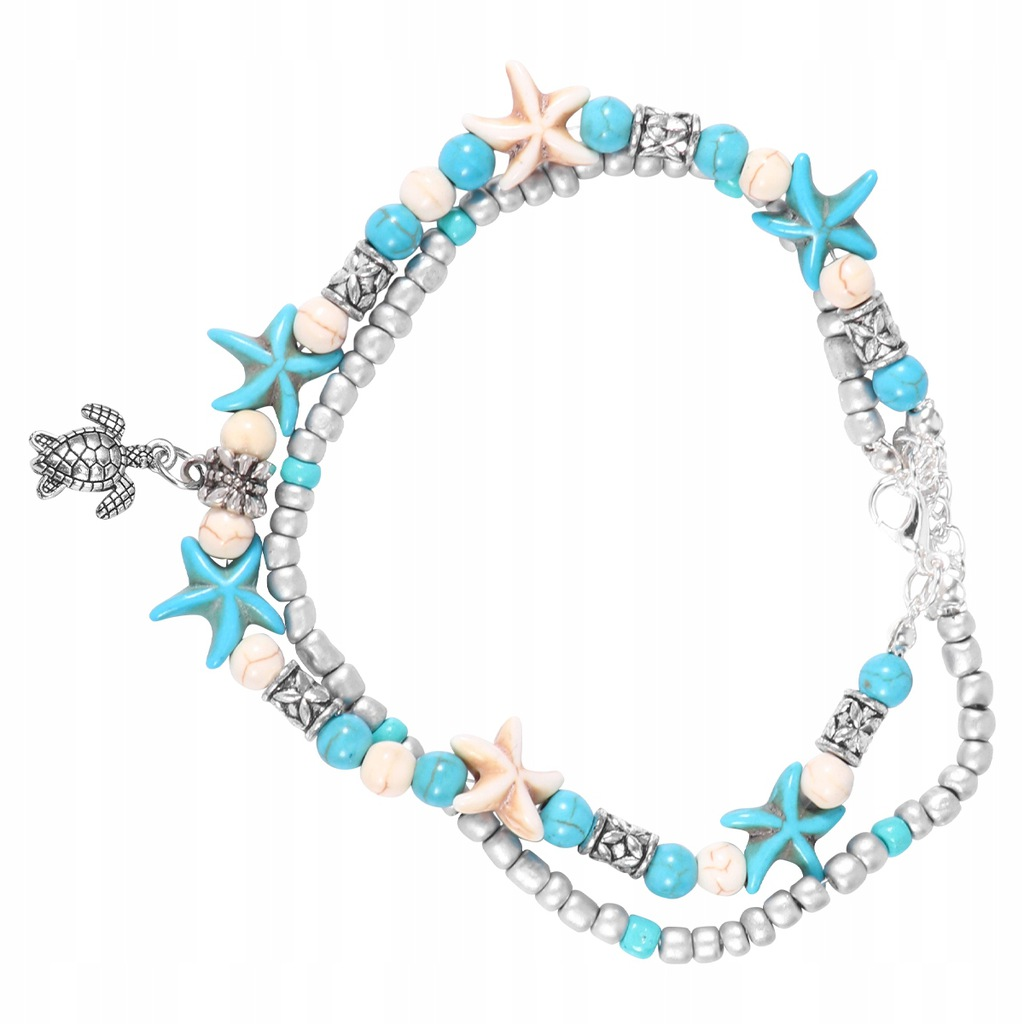 2 sztuk Łańcuch Kostki Fałszywy Pearl Sea Star Dwu