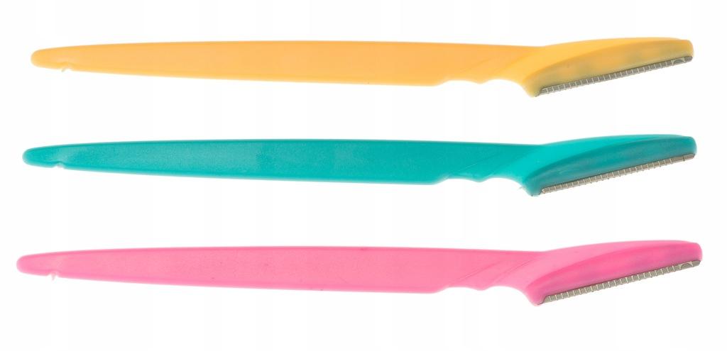 Nożyk Trymer brzytwa do stylizacji brwi zestaw 3sz