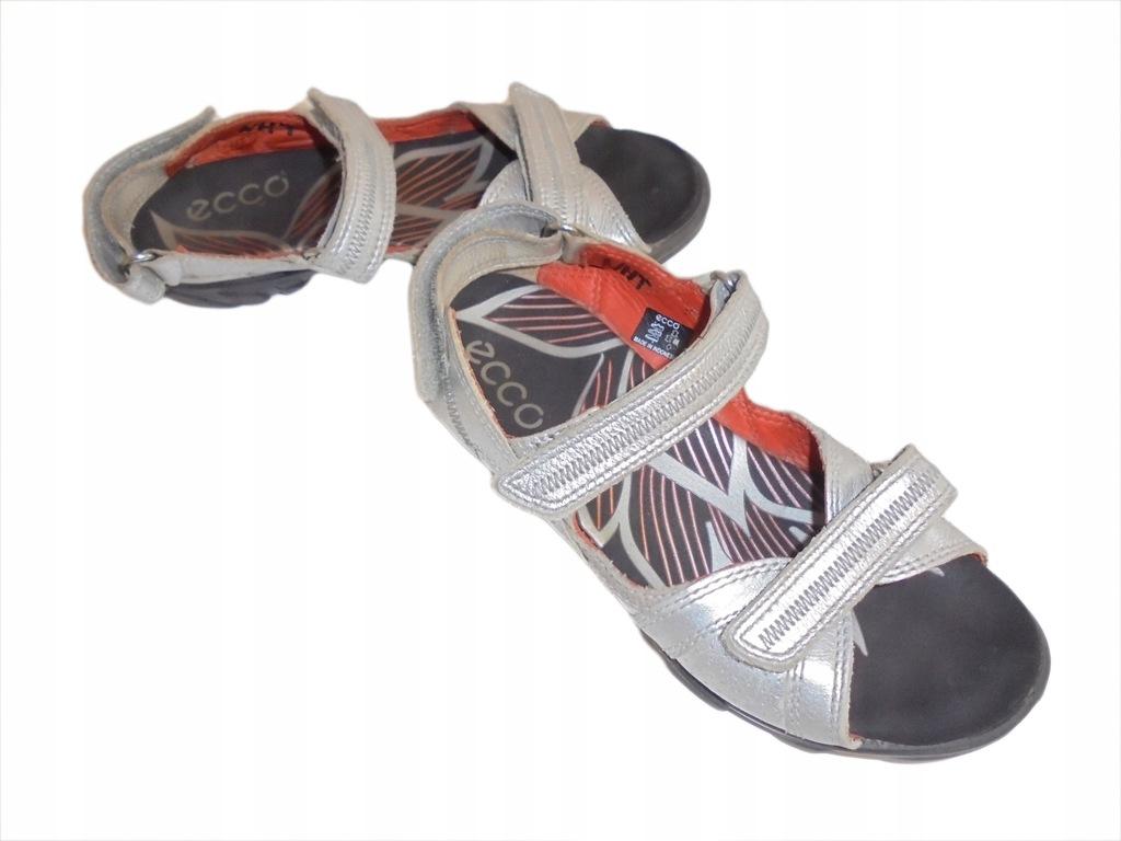 Skórzane sandałki Ecco. Stan idealny. Rozmiar 33.