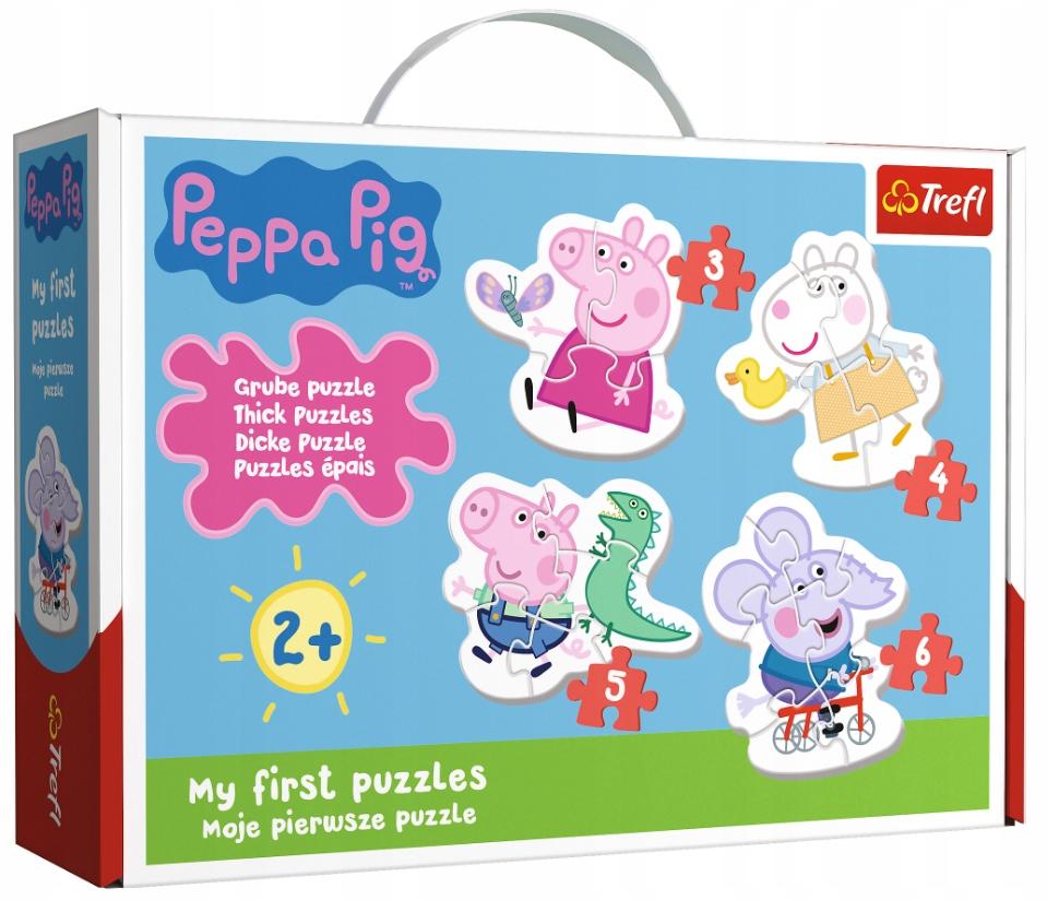 Trefl Grube Puzzle Baby Urocza Swinka Peppa 18 El 8927413083 Oficjalne Archiwum Allegro