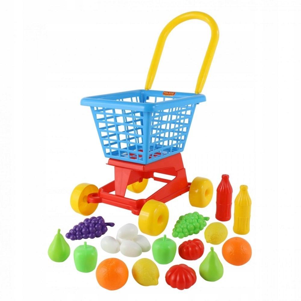 Wózek Supermarket + Zestaw zakupowy