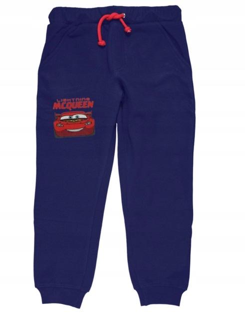 Spodnie Auta Cars długie dresowe dla chłopca 104