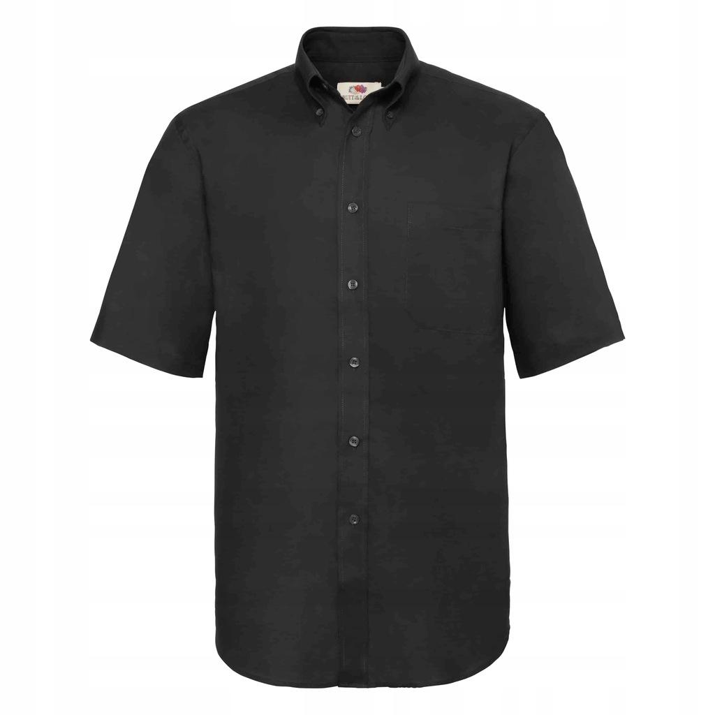 Koszula Oxford krótki rękaw Fruit Loom Czarny L