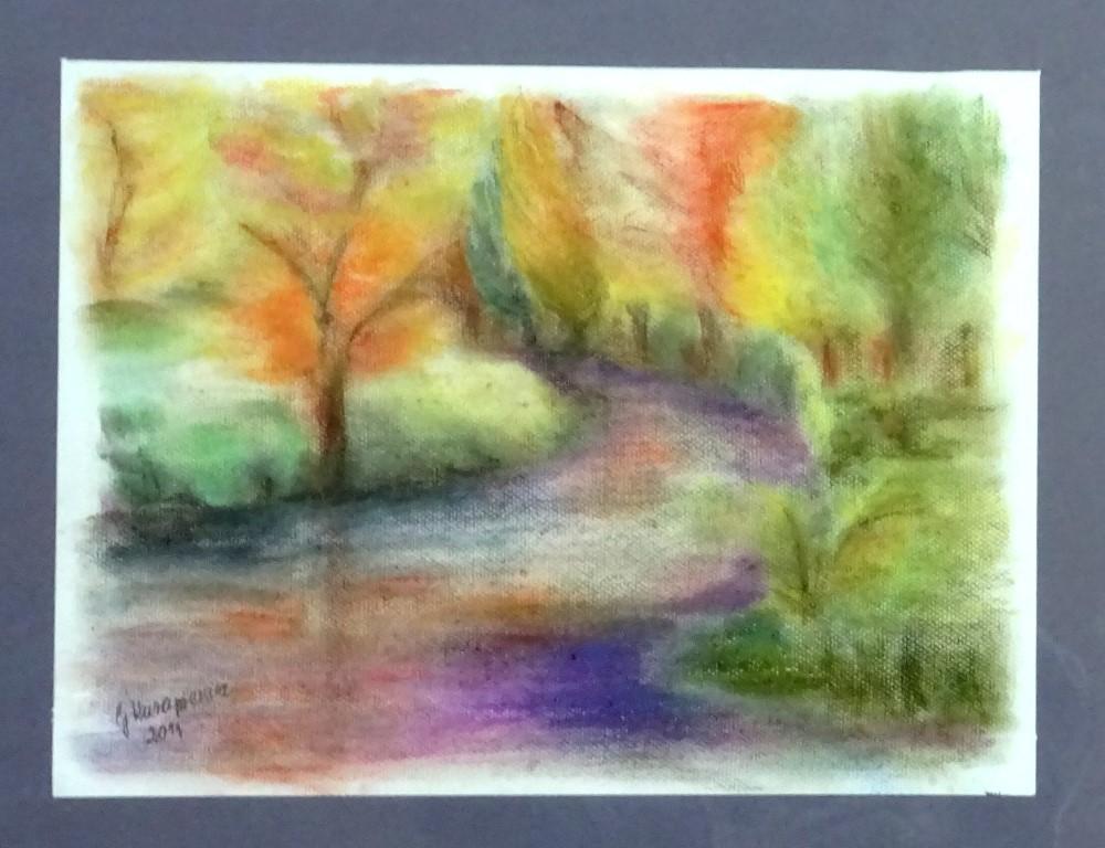 """Obraz """"Drzewa"""" autorstwa Grażyny Kurapiewicz"""