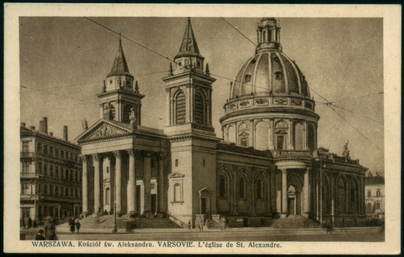 Warszawa Kościół św Aleksandra Bułhak przedw poczt