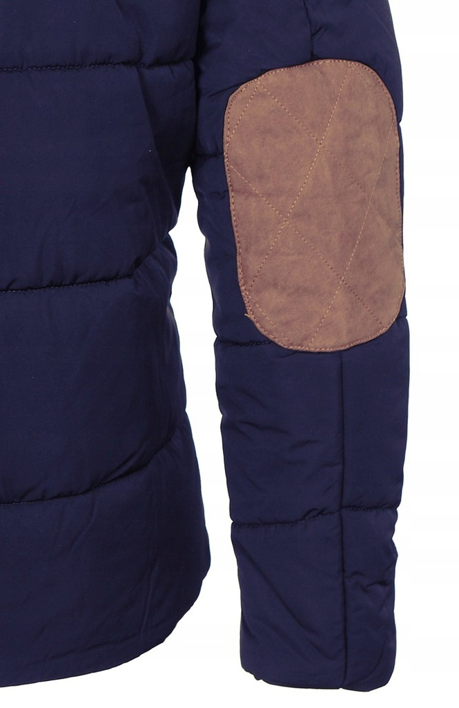 088 PIKOWANA KURTKA MĘSKA ZIMA Granatowa roz. XL