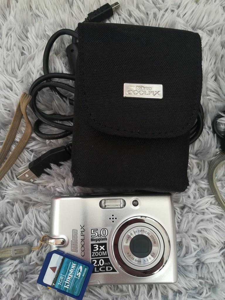 aparat cyfrowy Nikon coolpix l10 5MB 3x zoom