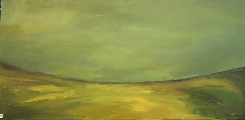 Obraz olejny zielony autor: Bartek Wojdyga