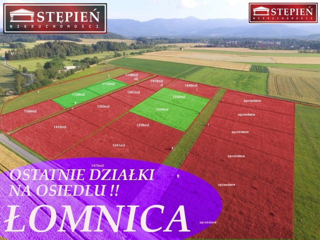 Działka, Łomnica, Mysłakowice (gm.), 1120 m²