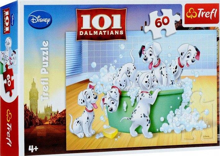 Puzzle 60 elementów, 101 Dalmatyńczyków- Kąpiel