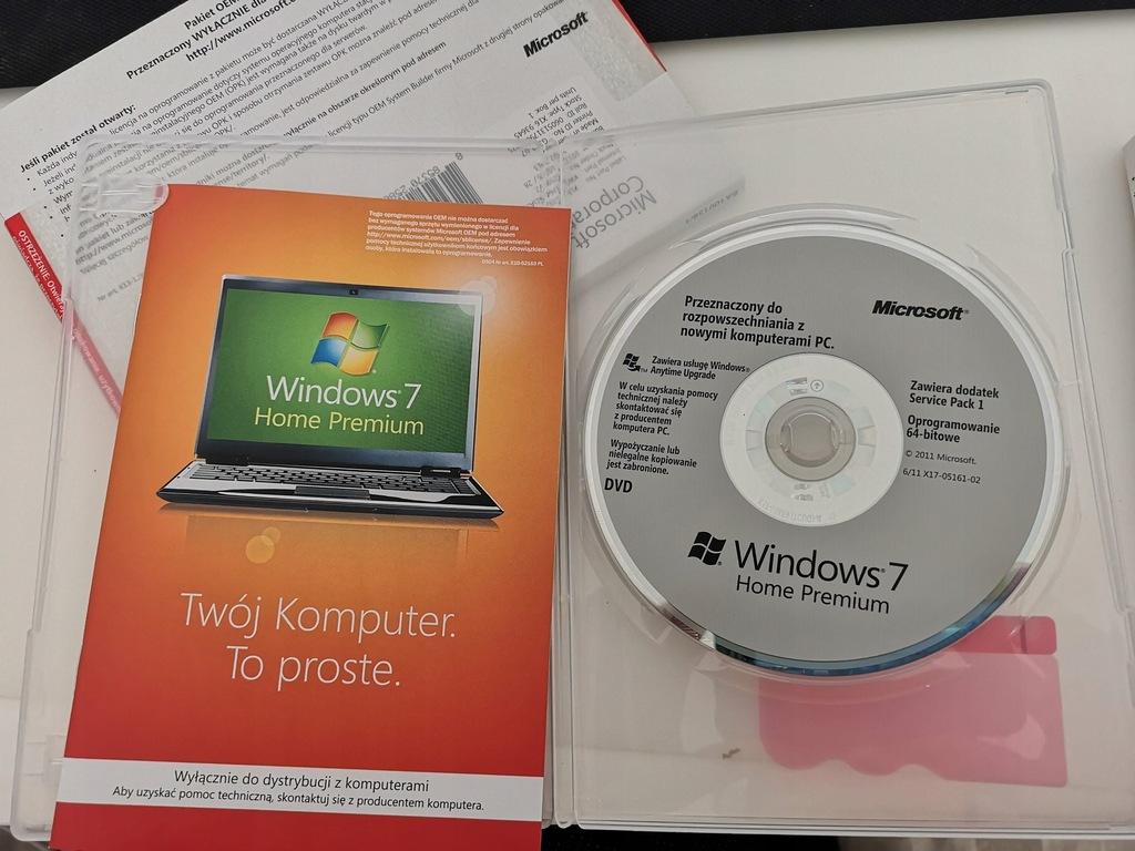 Windows 7 Home Premium 64 bit SP1 GFC-02062 64bit