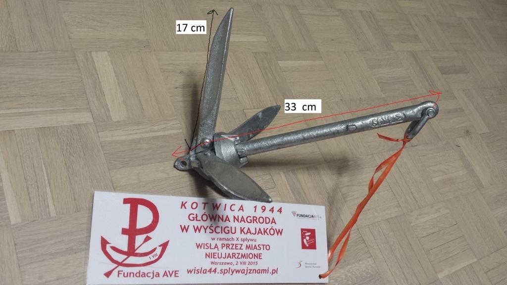 NOWA kotwica składana 2,3kg wyjątkowa NAGRODA