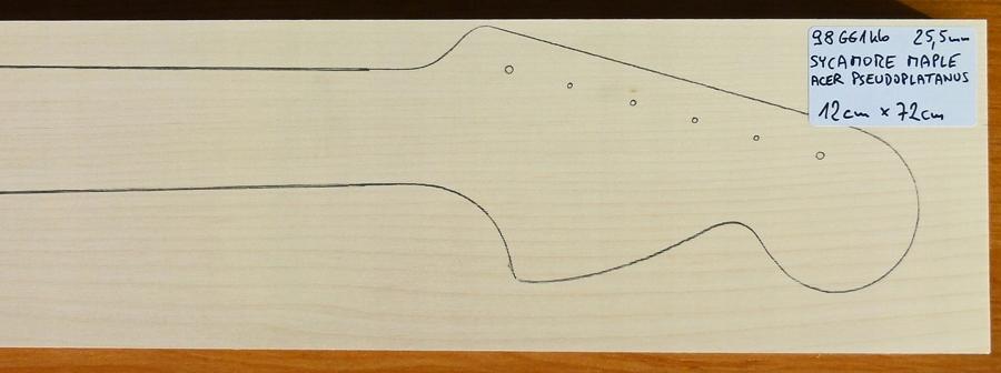 Drewno KLON na gryf typu Strat, gr. 25.5mm