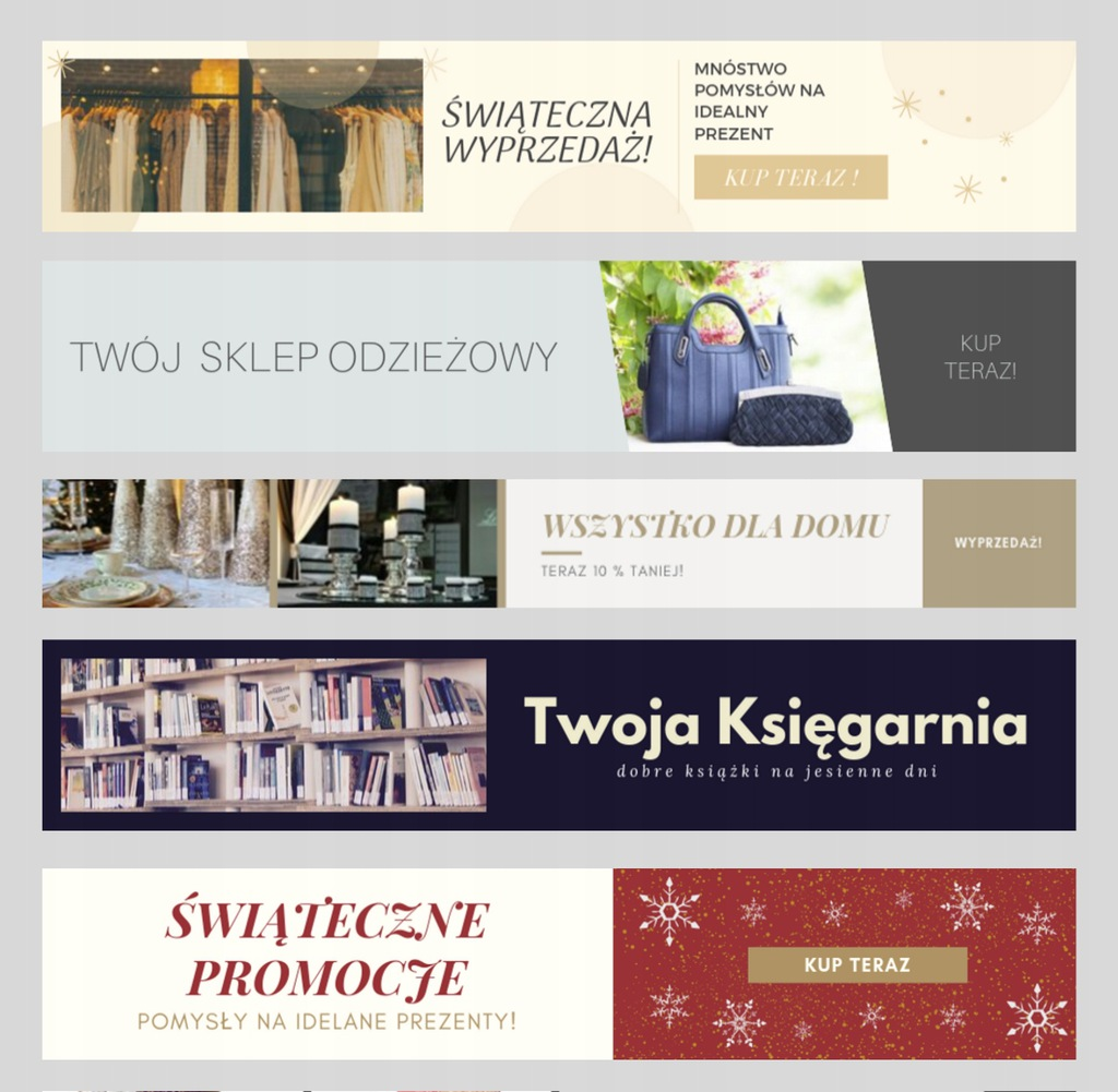 baner internetowy reklama Allegro, Facebook, sklep