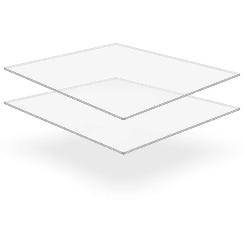 Przezroczyste płyty akrylowe, 2 szt., 40 x 60 cm,