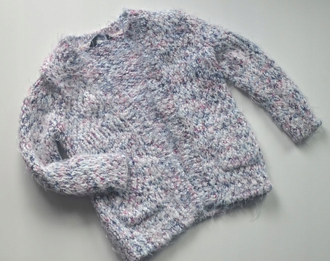 Sweter, kardigan rozpinany 5-6 lata 110-116 cm