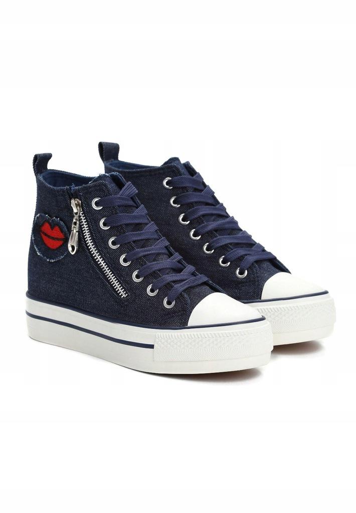 Granatowe Sneakersy 36